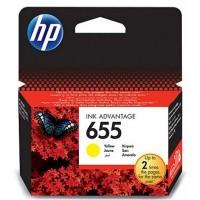 HP 655 cartouche d'encre jaune (CZ112AE)