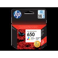 HP 650 cartouche d'encre trois couleurs Advantage authentique (CZ102AE)